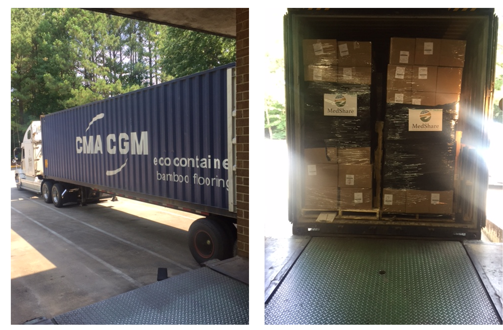 Medshare ships container to liberia for Consul container