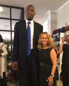 Consul General with Dikembe Mutombo, former NBA star, in Liberia